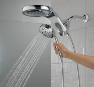using detachable shower heads